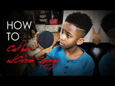 how to sponge hair correctly how to sponge your hair with groom sponge low fade youtube