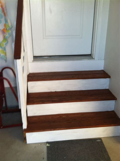 painted  stained garage steps classy home decor diy