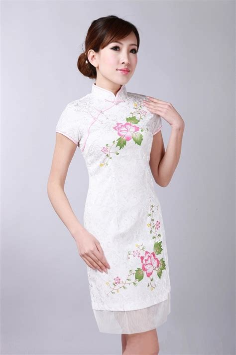 White Flower Dress Size M L 18677 new white traditional clothing s cotton mini