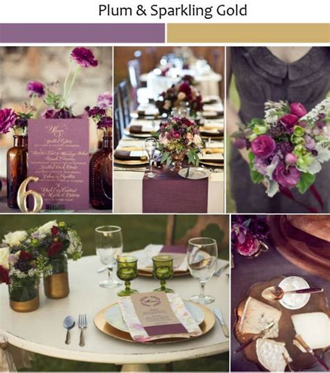 Wedding Ideas with Rustic Shades of Plum   Wedding, Gold