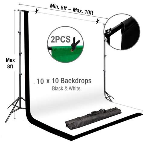 Wedding Backdrop Stand Kit by 10ft Adjustable Pipe And Drape Crossbar Kit Photography