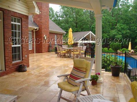 Instant Patio System by Instant Paver Deck On Wood Frame Deck Paver Project