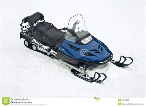 potoh motor motor sled at white snow transport stock image image of