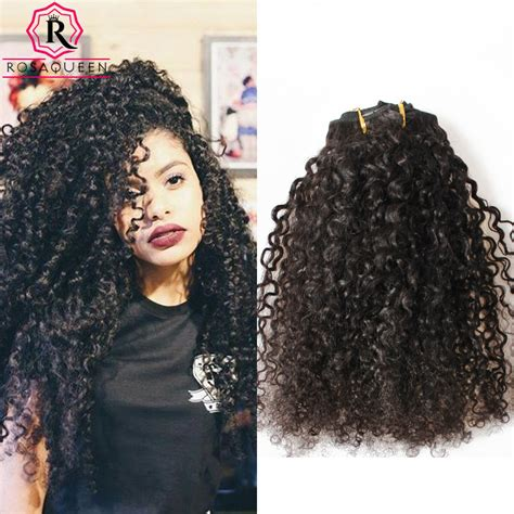 African Natural Curly Hair Weave Charlotte Nc Store | aliexpress com buy kinky curly clip in hair extensions