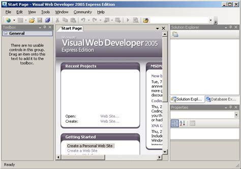 tutorial visual web developer 2010 express all categories otprene