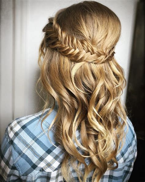 prom hairstyles half up half down curly half up half down prom hairstyles pictures and how to s