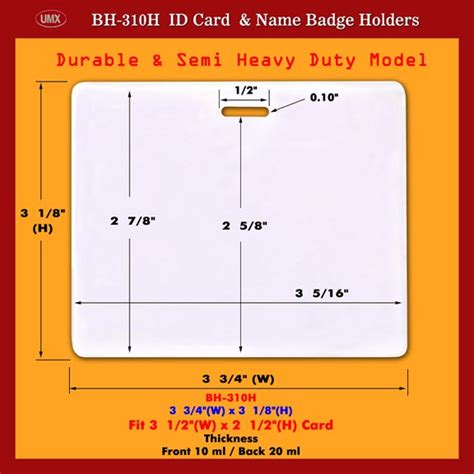 Credit Card Size Id Template durable and heavy duty credit card size photo id holders