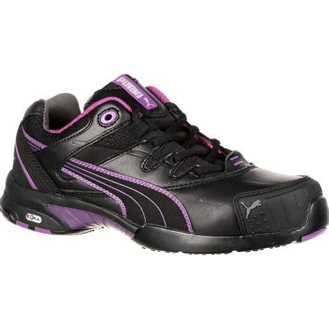 steel toed athletic shoes s purple black athletic steel toe work shoe