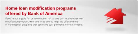 bank of america home loan modification bank of america