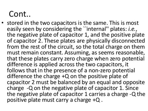 determine the charge on each capacitor calculate the potential difference across each capacitor assuming the two capacitors are in