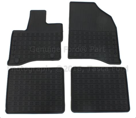 Ford Taurus Sho Floor Mats by New Oem Dual Clip All Weather Black Vinyl Floor Mats 2010