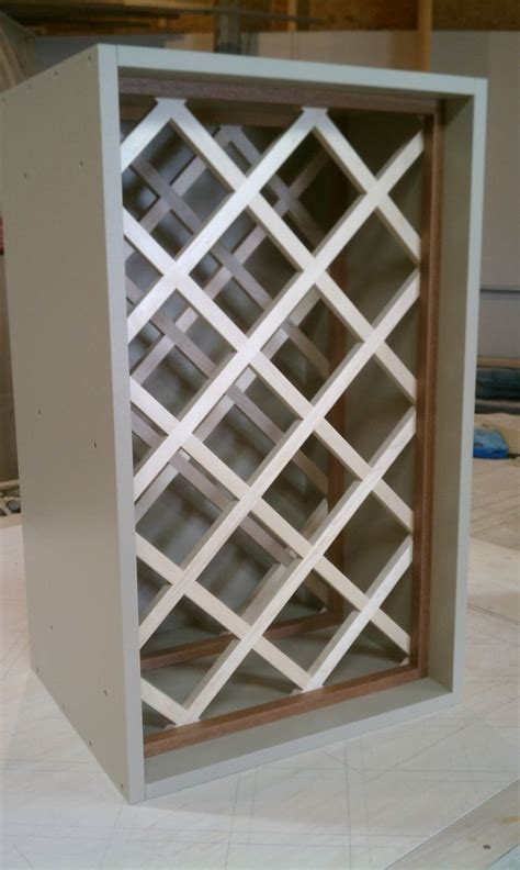 how to make a wine rack in a cabinet how to build a wine rack lattice woodworking projects