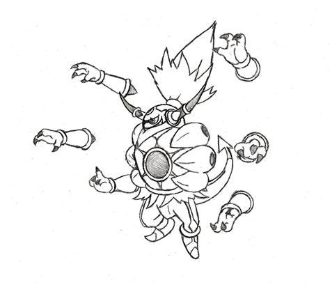 pokemon coloring page hoopa hoopa forme mega hoopa by xxd17 on deviantart