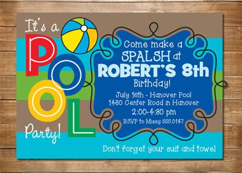 33 Party Invitation Templates Download Downloadcloud Pool Invitation Template