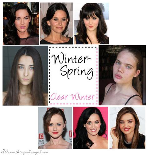 hair color for winter complexion are you a winter spring clear winter hair medium