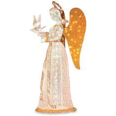 outdoor lighted angel with trumpet lighted rattan trumpet angel christmas decor pinterest
