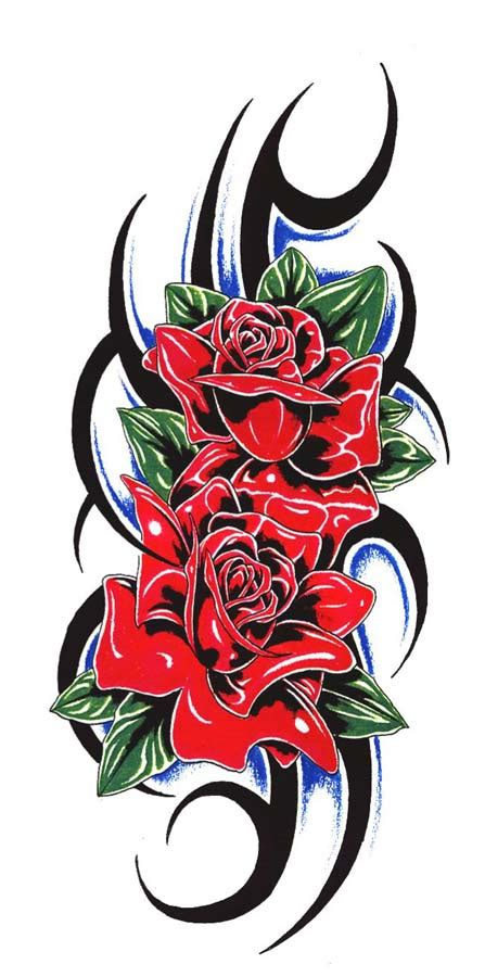black and red rose tattoo designs images designs