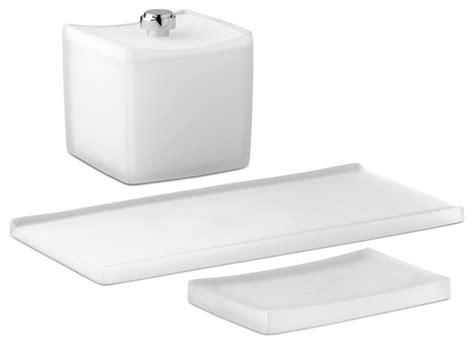 White Bathroom Accessory Set Kraftware Corp Captiva 3 Amenity Set White Bathroom Accessory Sets Houzz