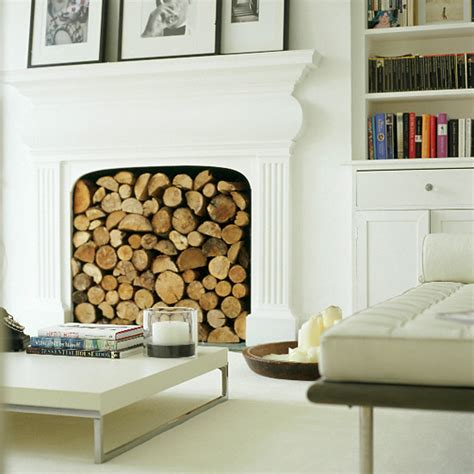 Decorative Logs In Fireplace by Sensational Decorative Fireplace Ideas