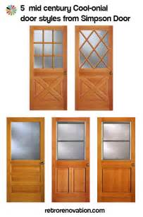 Colonial Style Front Doors Colonial Style Front Doors For Mid Century Houses Five Styles Available Today Retro Renovation