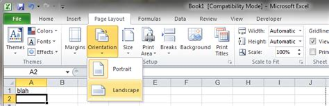 excel save layout how to create a horizontal pdf in excel 2010 super user