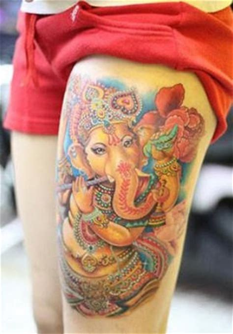 ganesh tattoo leg ganesh tattoo on thigh