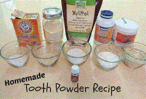 homemade tooth powder  evergreen