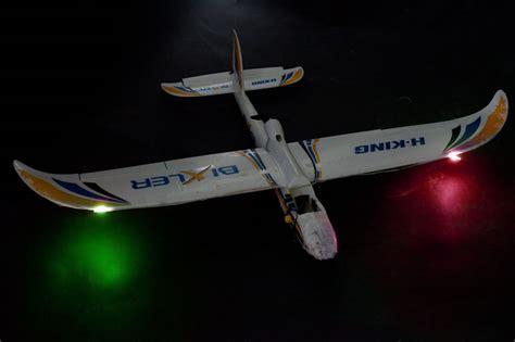 5v rc aircraft red green strobe light plane lighting model