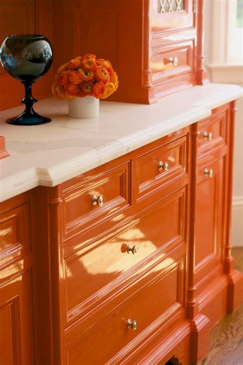 orange kitchen cabinet remodelaholic best colors for your home orange