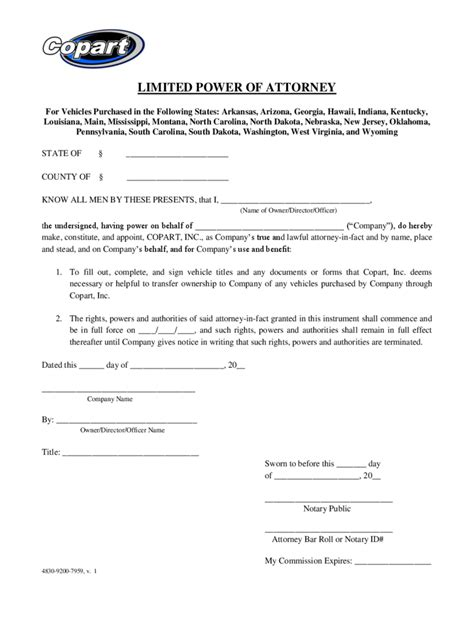 simple power of attorney template www pixshark com