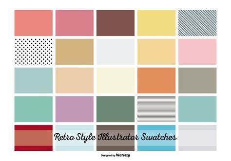 color pattern swatch illustrator vintage retro illustrator swatches download free vector