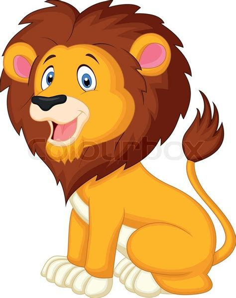 Cat Friendly Home Design by Vector Illustration Of Cute Lion Cartoon Stock Vector