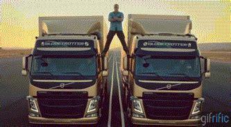 jean claude van damme split   trucks gifrific