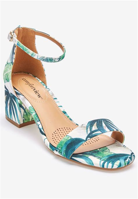 orly sandals by comfortview 174 plus size dress sandals within