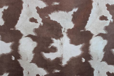Brown And White Cowhide Fabric Suede Cowhide Fabric Brown White The Fabric Mill