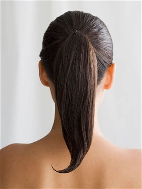 pony tail with fringes back hair tips for moms and moms to be