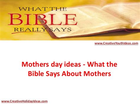 s day says mothers day ideas what the bible says about mothers