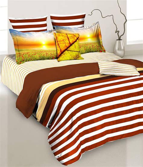 brown cotton comforter tangerine brown stripes cotton comforter microfiber buy