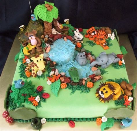 Jungle Theme Baby Shower Cakes by Jungle Cakes Decoration Ideas Birthday Cakes