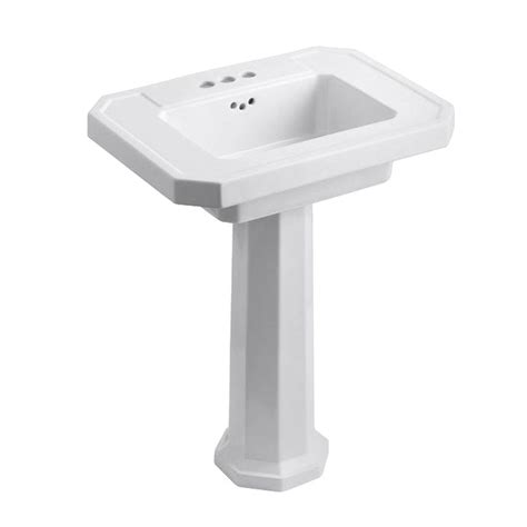 Kohler White Pedestal Sink Kohler Kathryn Ceramic Pedestal Combo Bathroom Sink In