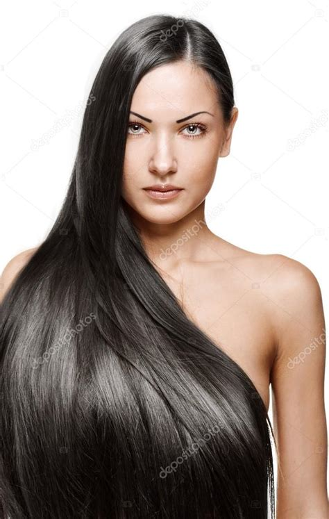 photos of lovely dark black long silky hairs of indian chinese girls in braided pony styles portrait of a beautiful young woman with elegant long