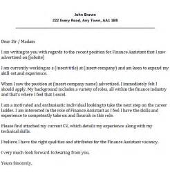 finance assistant cover letter exle icover org uk