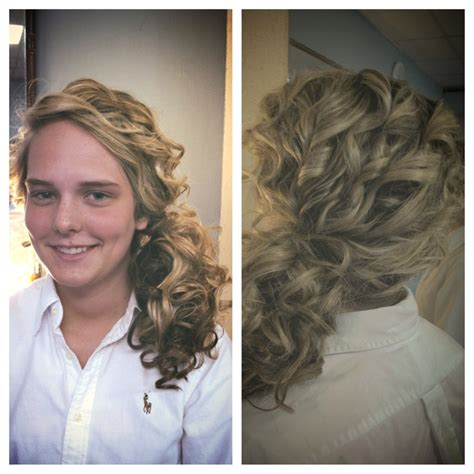 wand hairstyles for prom prom hair side ponytail curled with a wand hairstyles