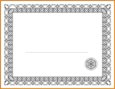 free printable certificate border templates 7 free printable blank certificate borders sle of