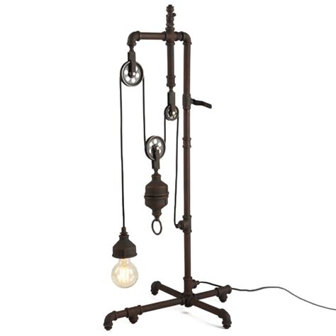 Shell Light Fixture Antique Adjustable Industrial Water Pipe Floor Lamp 12060