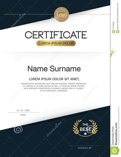 certificate template size certificate of achievement frame design template layout