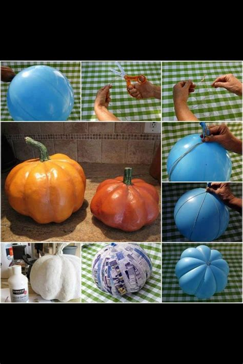 How To Make Paper Mashay - paper mashay pumpkin crafts
