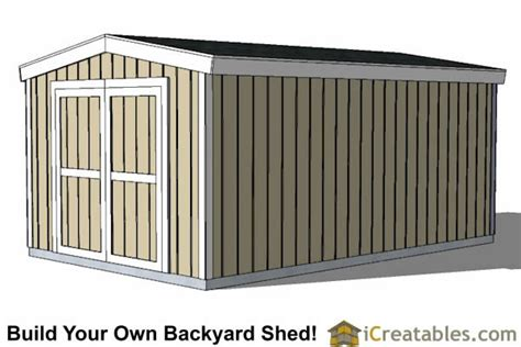 10x16 shed plans 8 storage shed plans