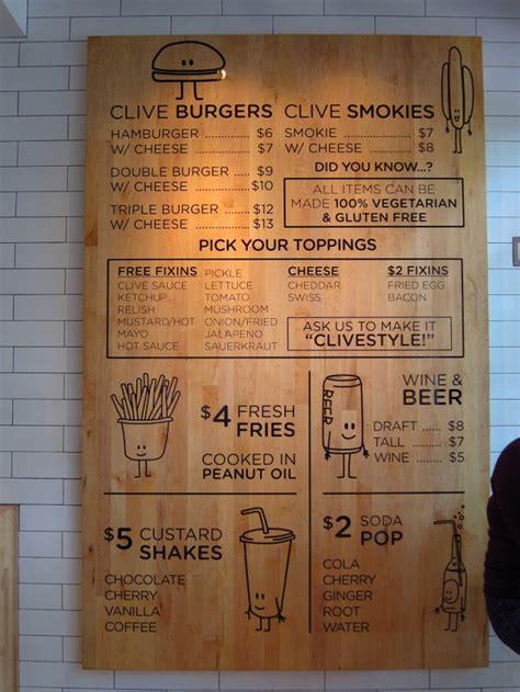 cafe menu boards design clive burger menu pinteres