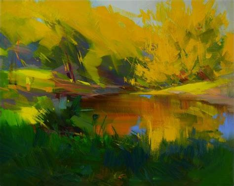 abstract landscape painting abstract landscape painting water on canvas green yellow lan
